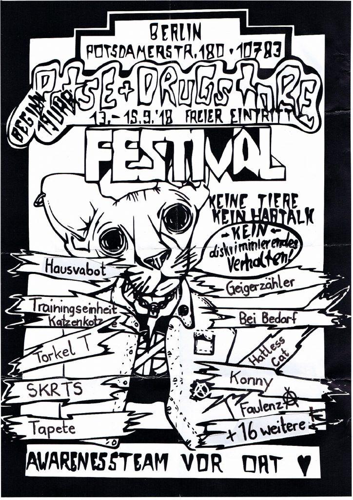 Potse & Drugstore Festival 13.09-15.09.2018